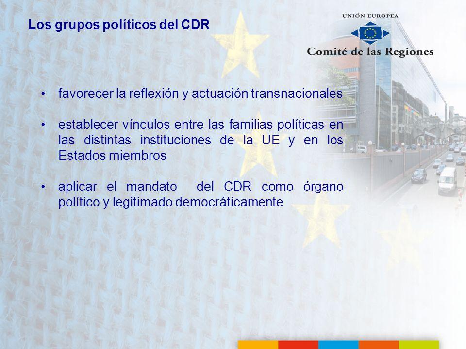 Los grupos políticos del CDR