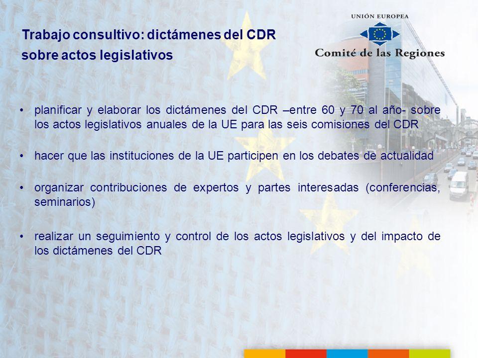 Trabajo consultivo: dictámenes del CDR sobre actos legislativos