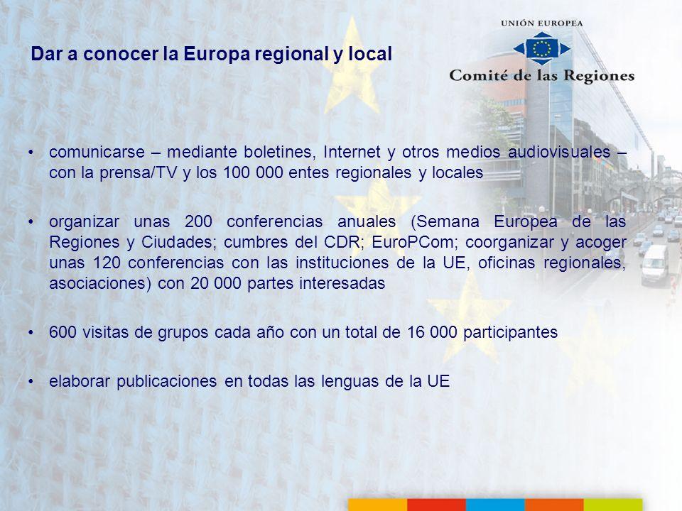 Dar a conocer la Europa regional y local
