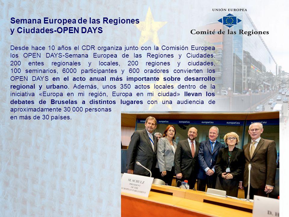 Semana Europea de las Regiones y Ciudades-OPEN DAYS