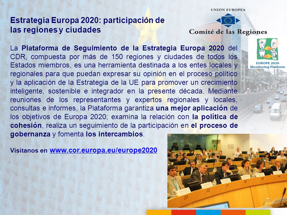 Estrategia Europa 2020: participación de las regiones y ciudades