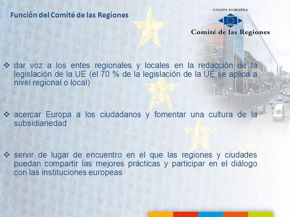 Función del Comité de las Regiones