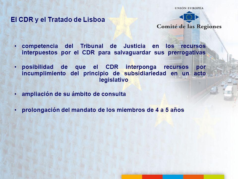 El CDR y el Tratado de Lisboa