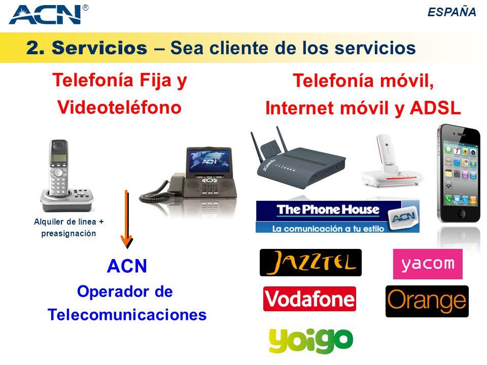 Telefonía Fija y Videoteléfono Alquiler de línea + preasignación