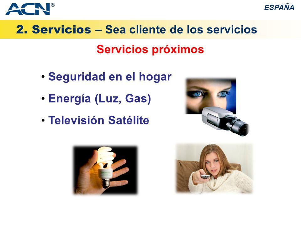 2. Servicios – Sea cliente de los servicios