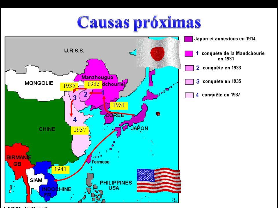 Causas próximas 1933 1935 1931 1937 1941
