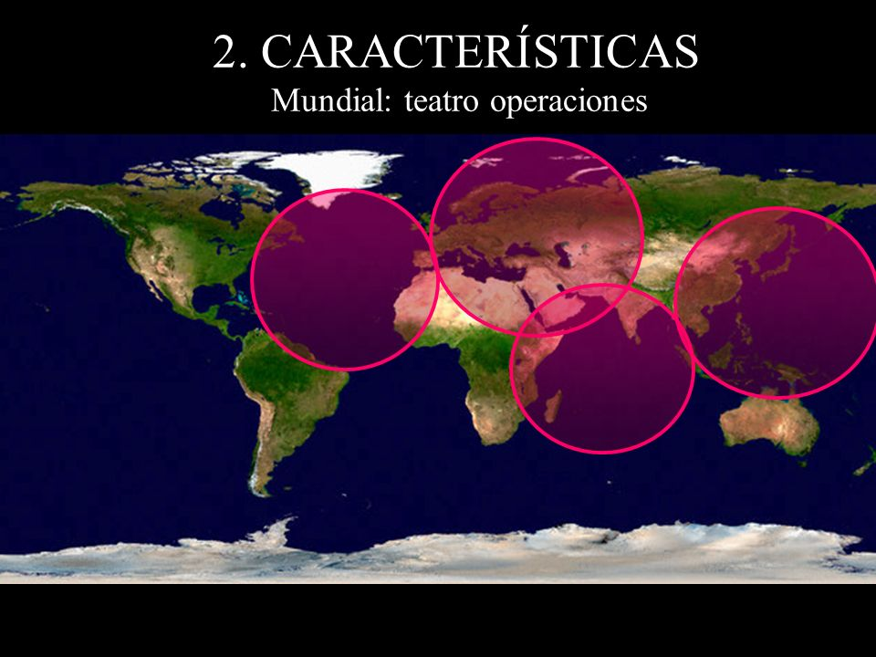 2. CARACTERÍSTICAS Mundial: teatro operaciones