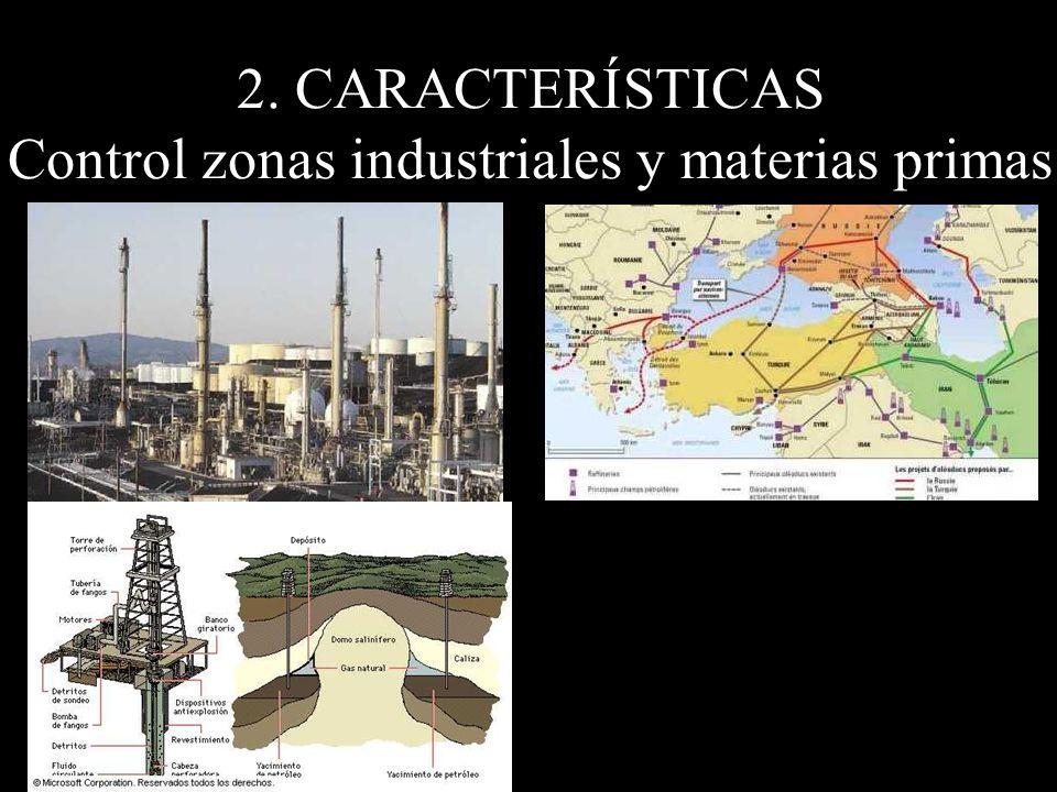 2. CARACTERÍSTICAS Control zonas industriales y materias primas
