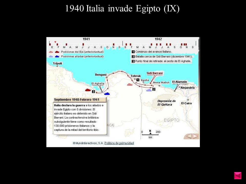 1940 Italia invade Egipto (IX)
