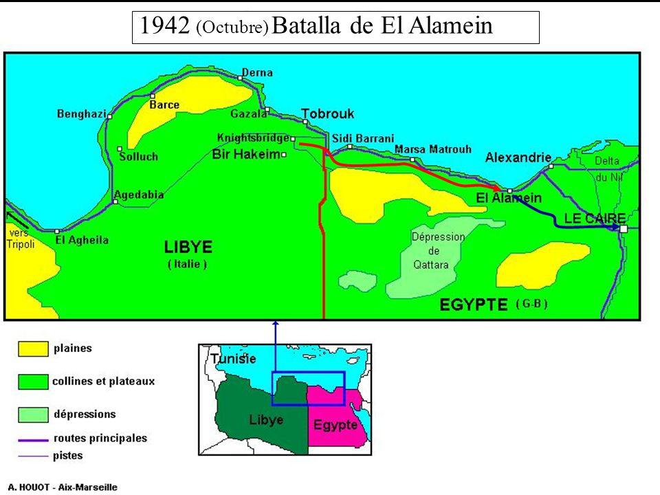 1942 (Octubre) Batalla de El Alamein