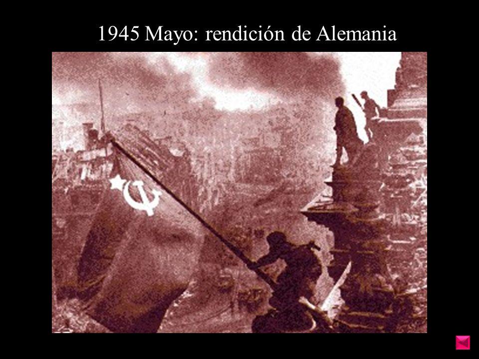 1945 Mayo: rendición de Alemania