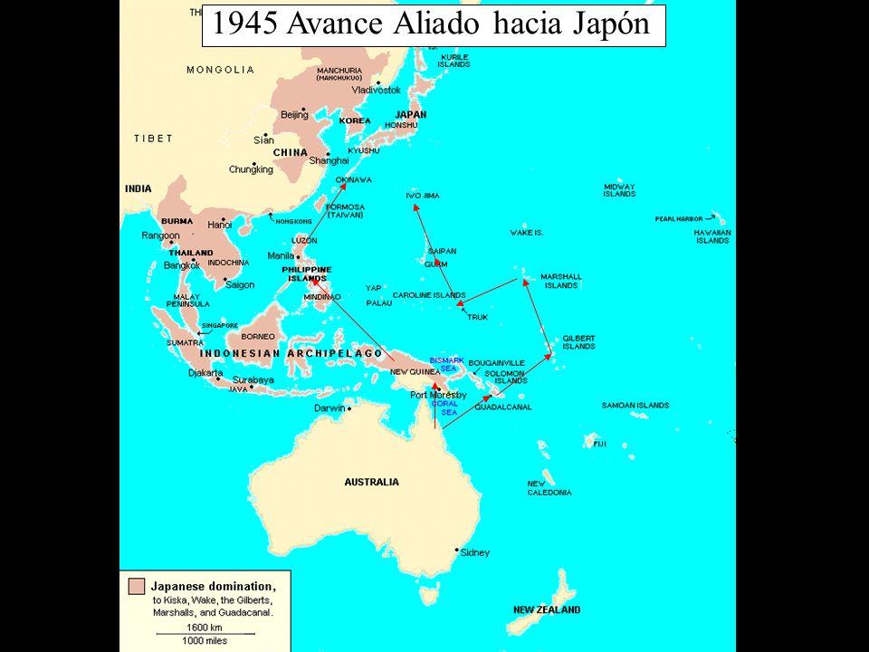 1945 Avance Aliado hacia Japón