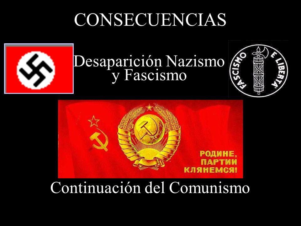 CONSECUENCIAS Desaparición Nazismo y Fascismo