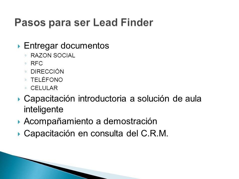 Pasos para ser Lead Finder