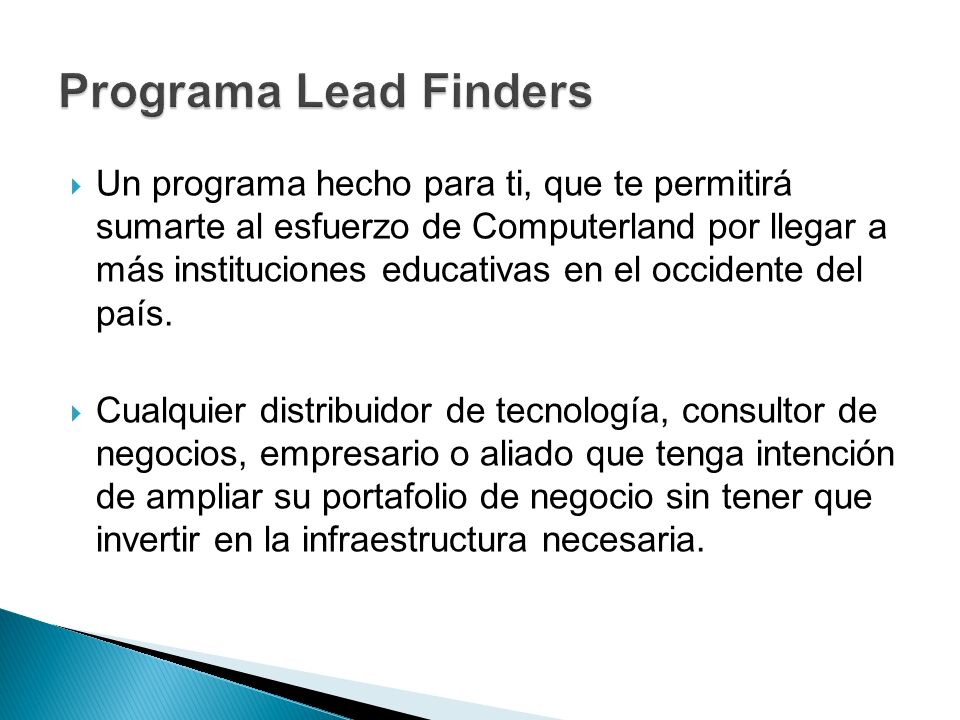 Programa Lead Finders