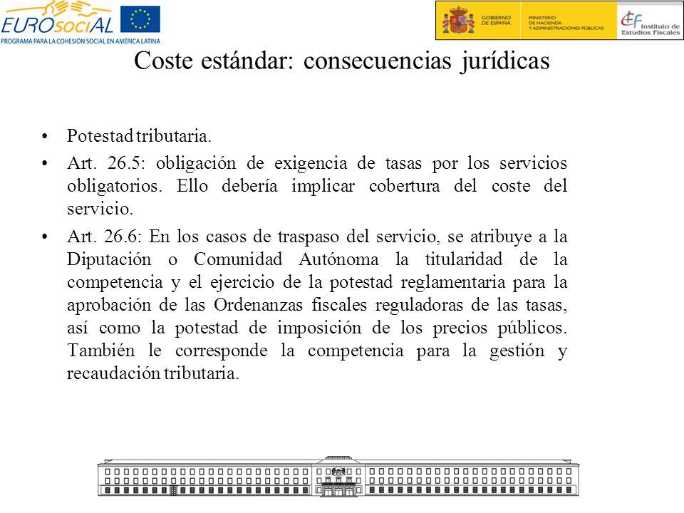 Coste estándar: consecuencias jurídicas