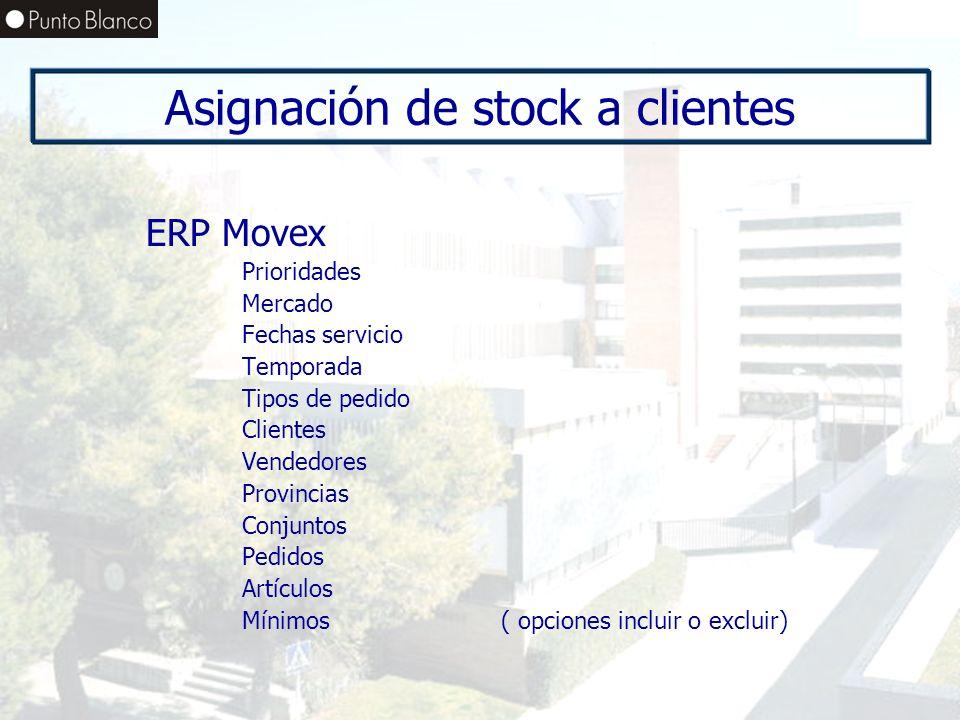 Asignación de stock a clientes