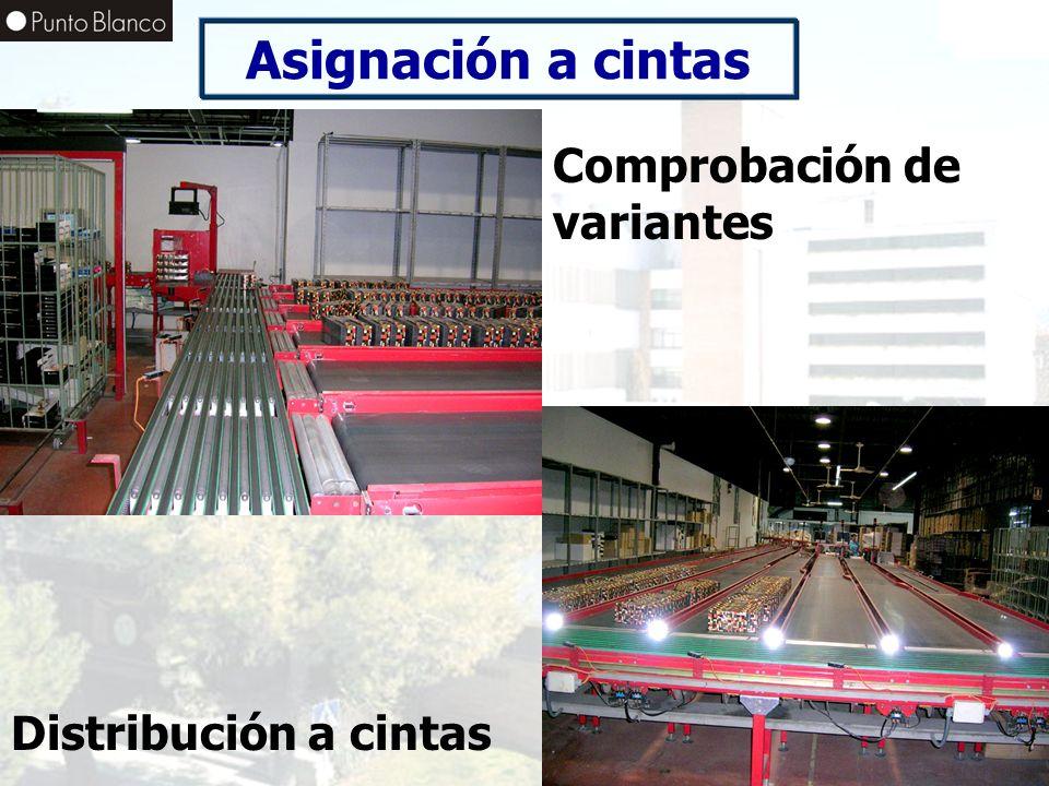 Asignación a cintas Comprobación de variantes Distribución a cintas
