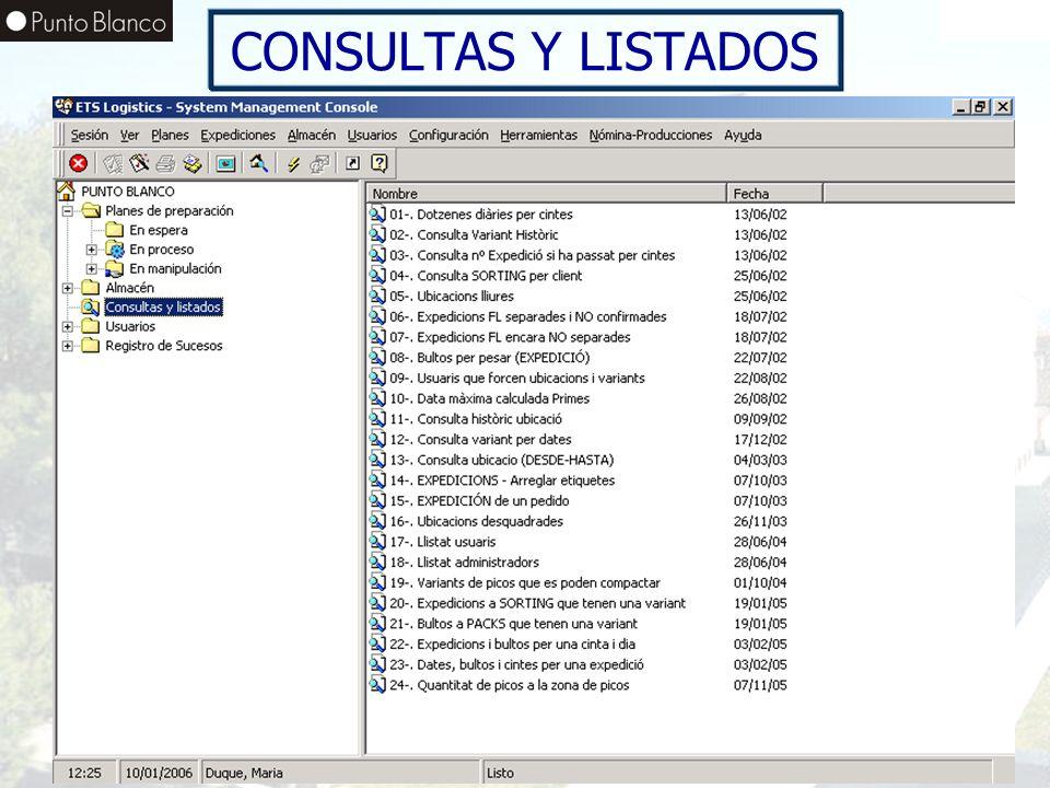 CONSULTAS Y LISTADOS