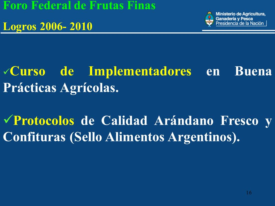 Foro Federal de Frutas Finas