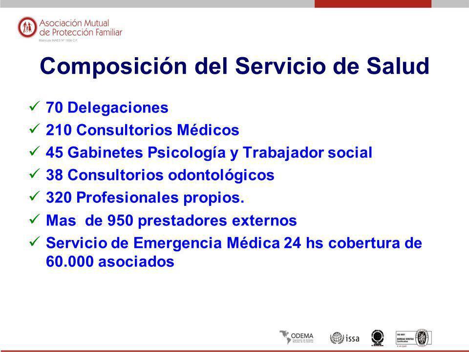 Composición del Servicio de Salud