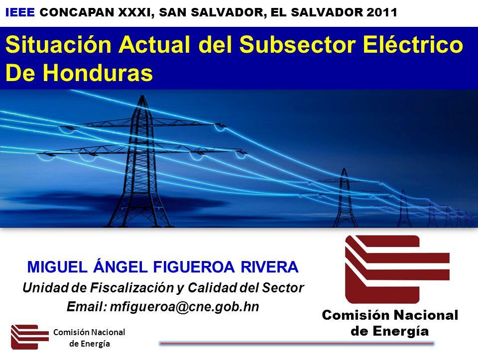 Situación Actual del Subsector Eléctrico De Honduras