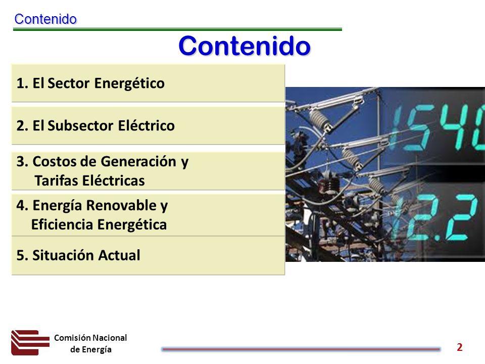 Contenido 1. El Sector Energético 2. El Subsector Eléctrico