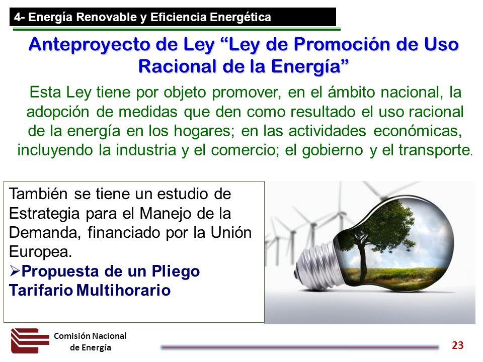 Anteproyecto de Ley Ley de Promoción de Uso Racional de la Energía