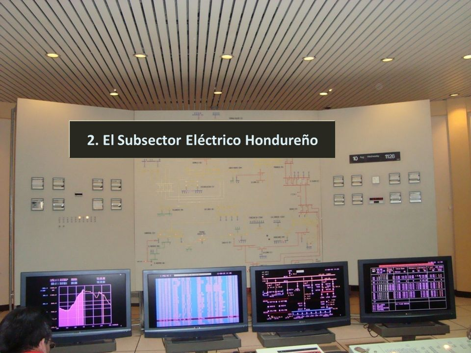 2. El Subsector Eléctrico Hondureño