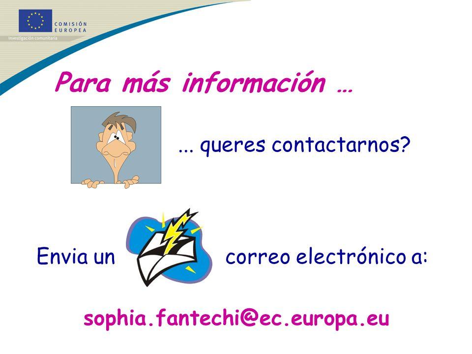 Envia un correo electrónico a: sophia.fantechi@ec.europa.eu