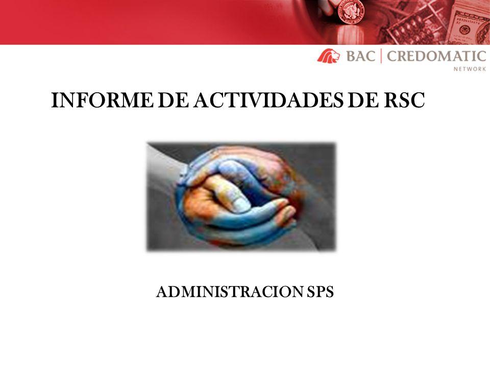 INFORME DE ACTIVIDADES DE RSC