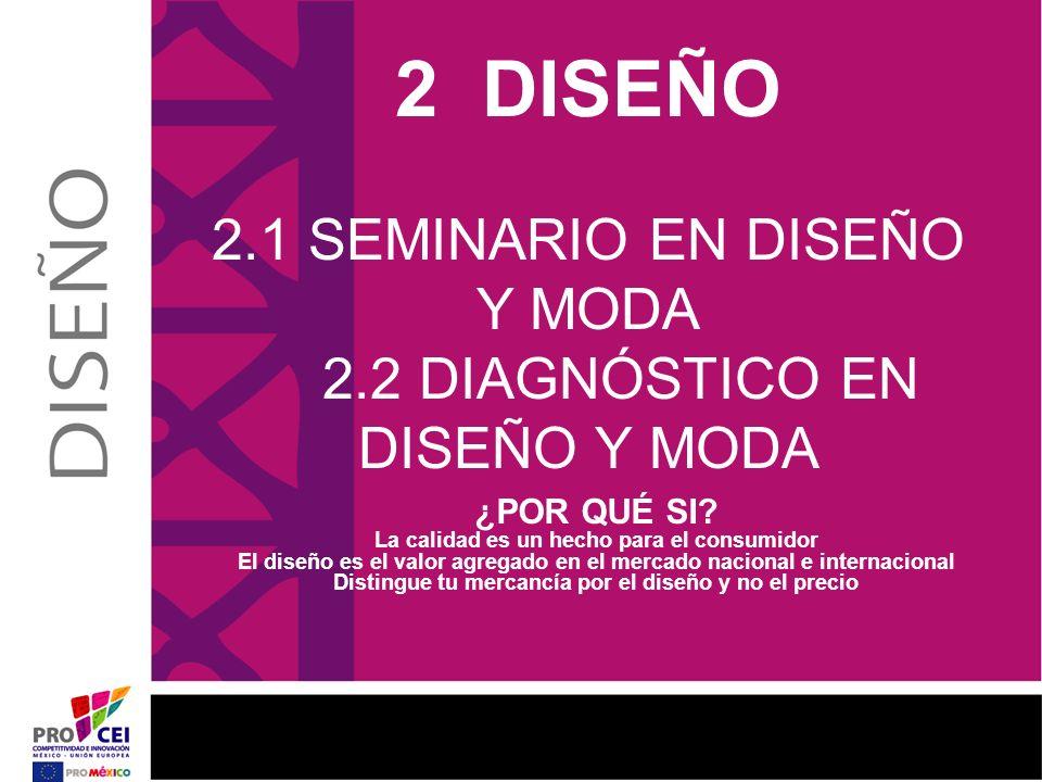 2 DISEÑO 2. 1 SEMINARIO EN DISEÑO Y MODA 2