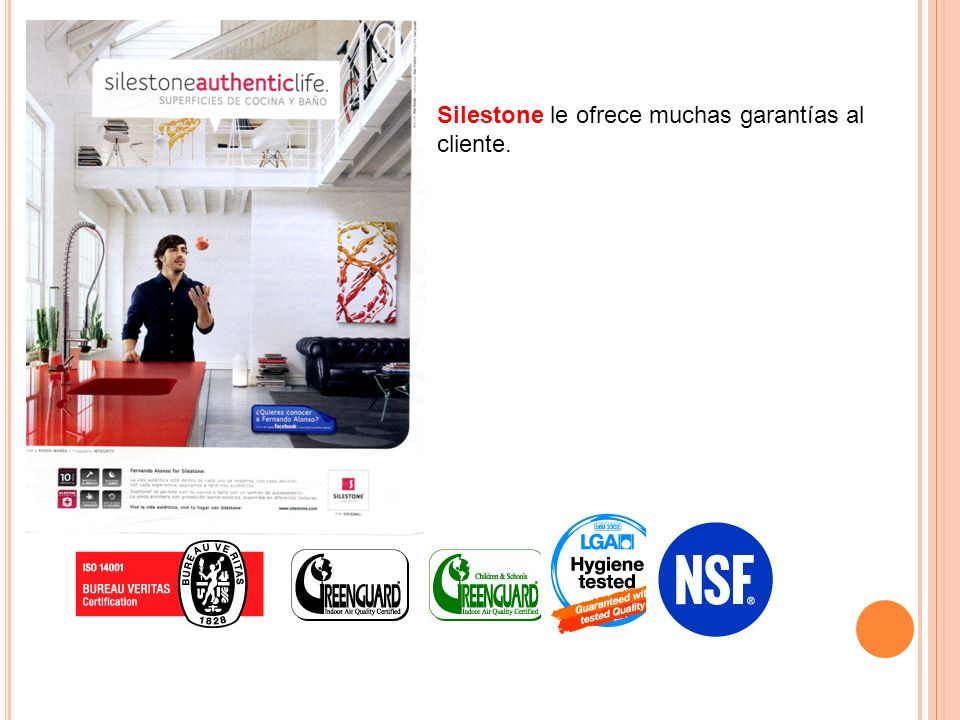 Silestone le ofrece muchas garantías al cliente.