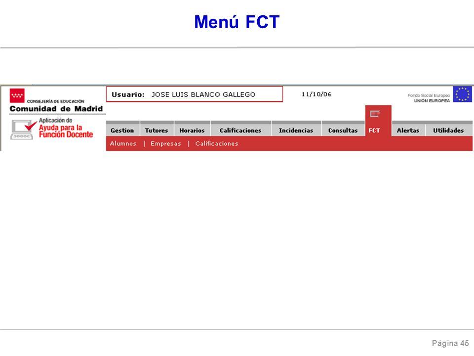 Menú FCT