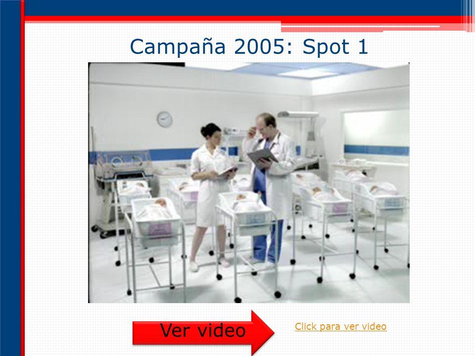 Campaña 2005: Spot 1 Ver video Click para ver video