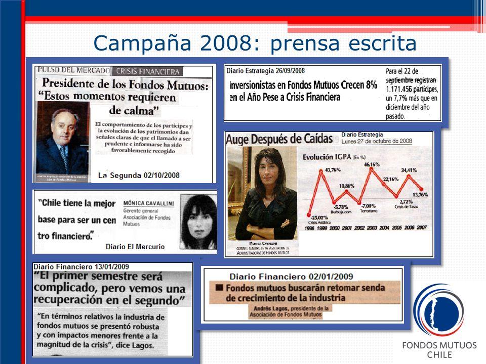 Campaña 2008: prensa escrita