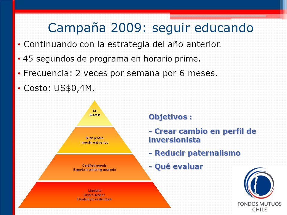Campaña 2009: seguir educando
