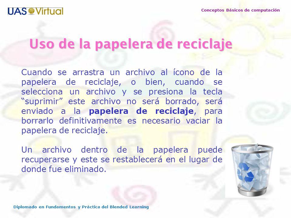 Uso de la papelera de reciclaje