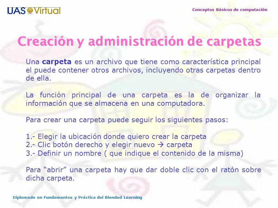 Creación y administración de carpetas