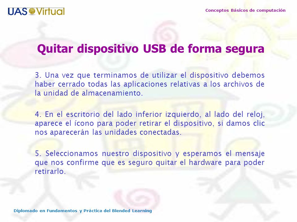 Quitar dispositivo USB de forma segura
