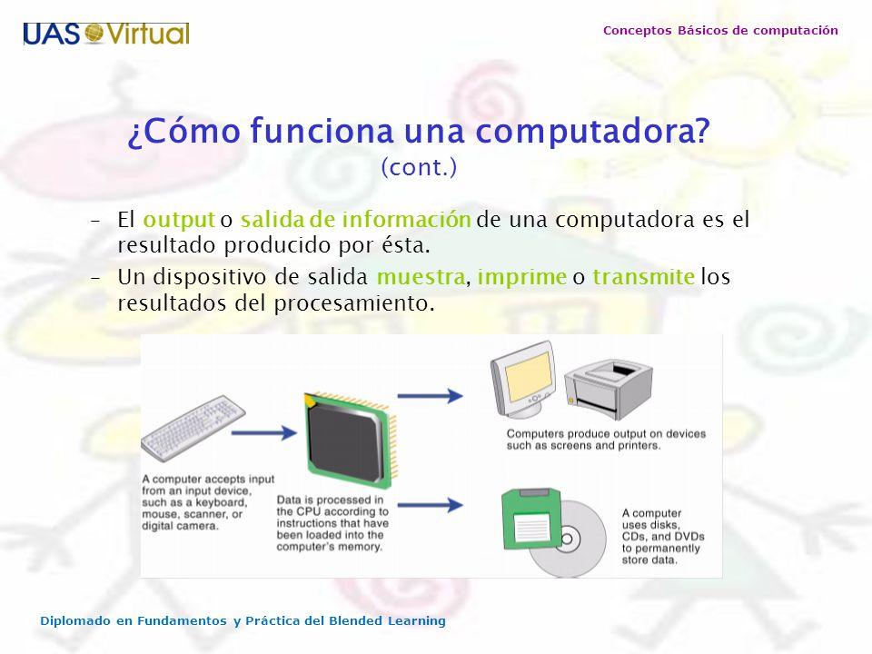 ¿Cómo funciona una computadora (cont.)