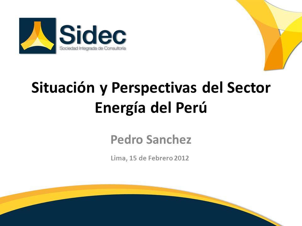Situación y Perspectivas del Sector Energía del Perú