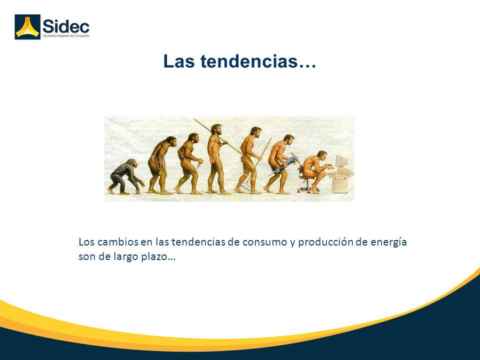Las tendencias… Los cambios en las tendencias de consumo y producción de energía son de largo plazo…