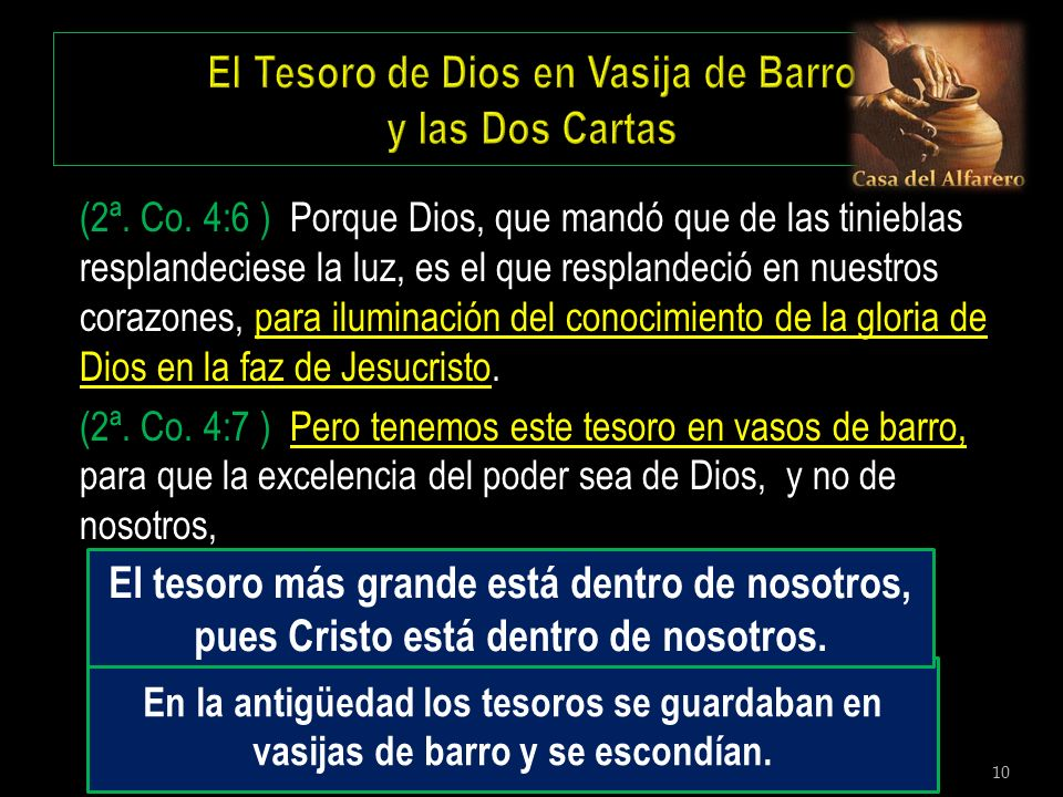 El Tesoro de Dios en Vasija de Barro y las Dos Cartas