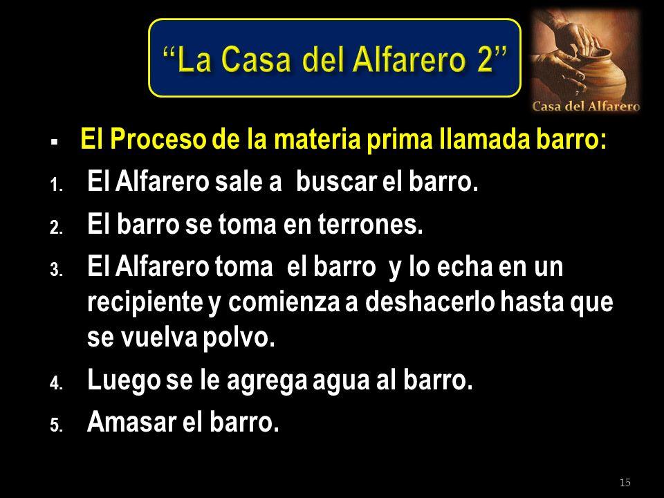 La Casa del Alfarero 2 El Proceso de la materia prima llamada barro: