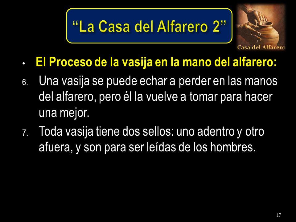 La Casa del Alfarero 2 El Proceso de la vasija en la mano del alfarero: