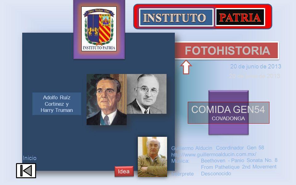 Adolfo Ruíz Cortinez y Harry Truman