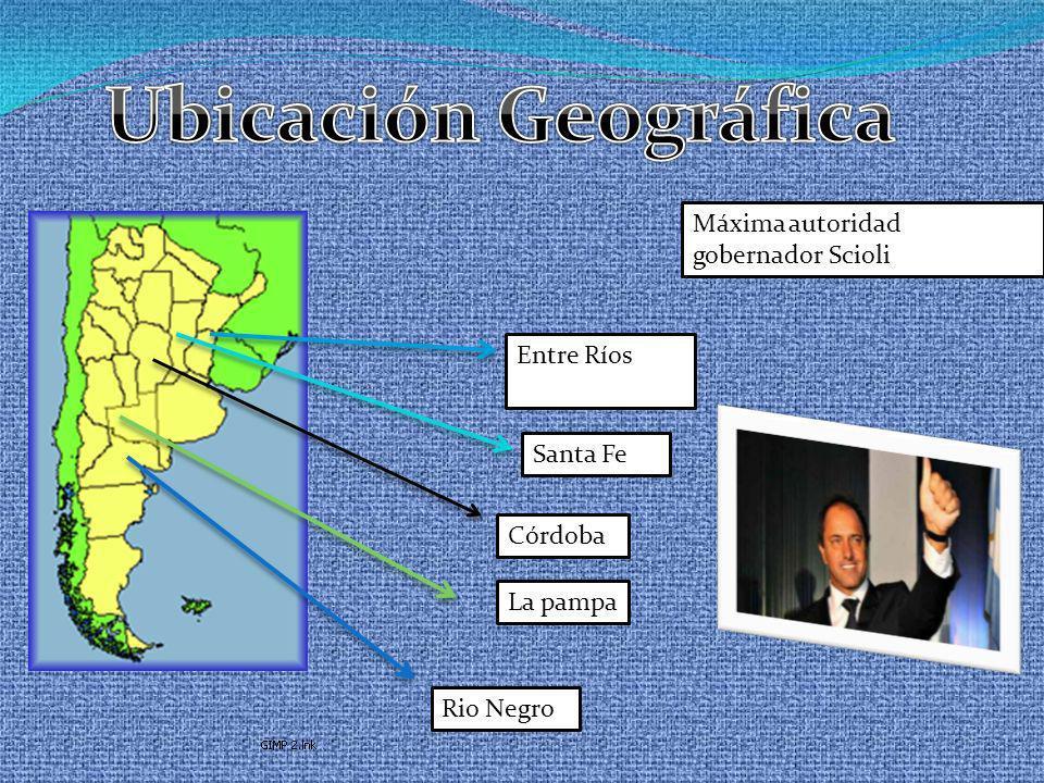 Ubicación Geográfica Máxima autoridad gobernador Scioli Entre Ríos