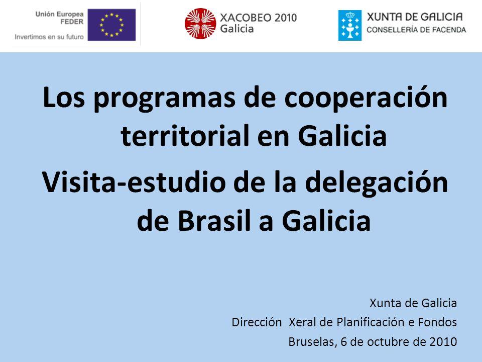 Los programas de cooperación territorial en Galicia