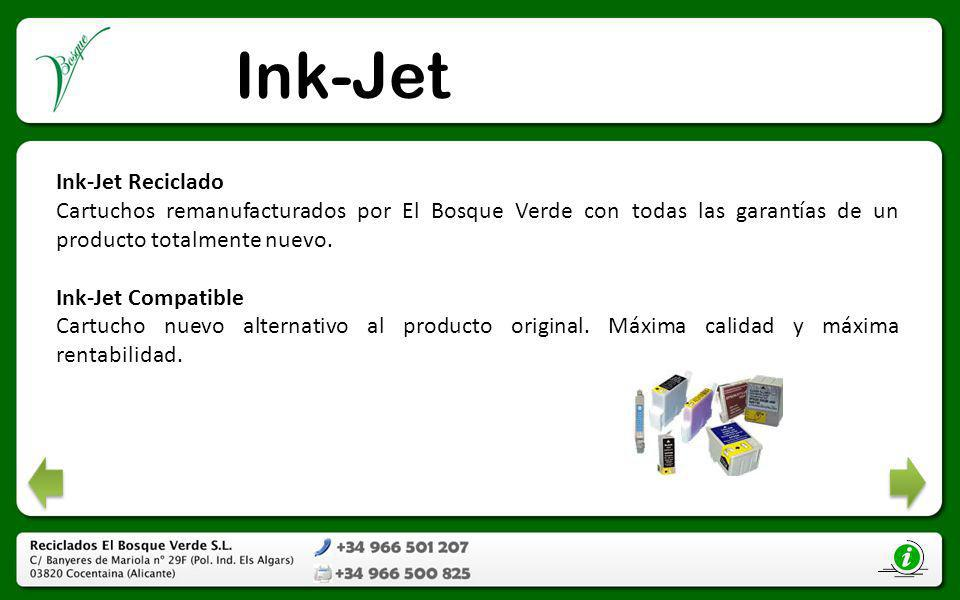 Ink-Jet Ink-Jet Reciclado